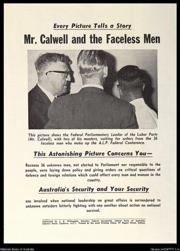 Original Faceless men poster
