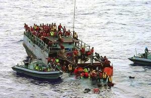 RefugeesArriveOnSmallBoats